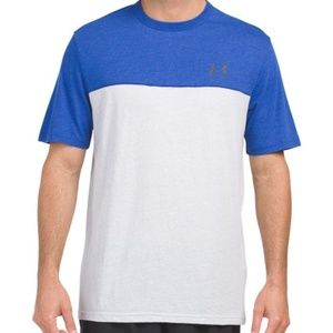 NWT UNDER ARMOUR  Triblend Blocked Athletic Tee